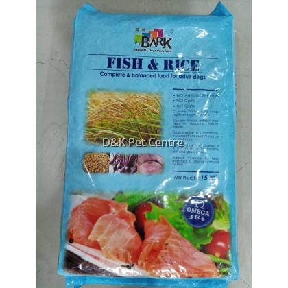 Bark Dog Food Fish & Rice 15kg