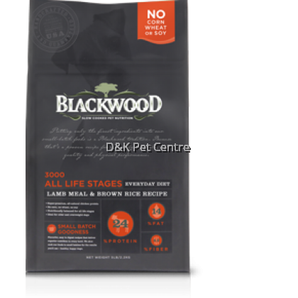 Blackwood 3000 All Life Stage Lamb Meal & Brown Rice Dry Dog Food 13.63KG