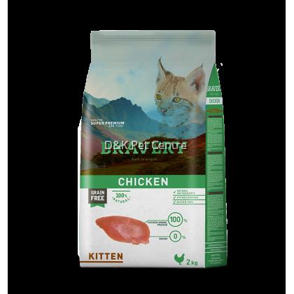 BRAVERY KITTEN CHICKEN GRAIN FREE 2KG