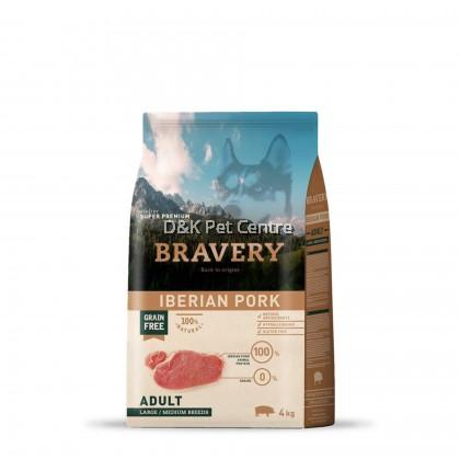 BRAVERY IBERIAN PORK GRAIN FREE ADULT LARGE/MEDIUM BREEDS DOG FOOD  4KG