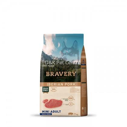 BRAVERY IBERIAN PORK GRAIN FREE ADULT MINI DOG FOOD 7KG