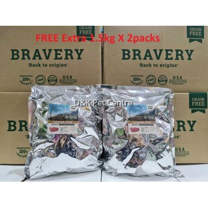 BRAVERY IBERIAN PORK GRAIN FREE ADULT LARGE/MEDIUM BREEDS DOG FOOD 12KG+EXTRA 3KG