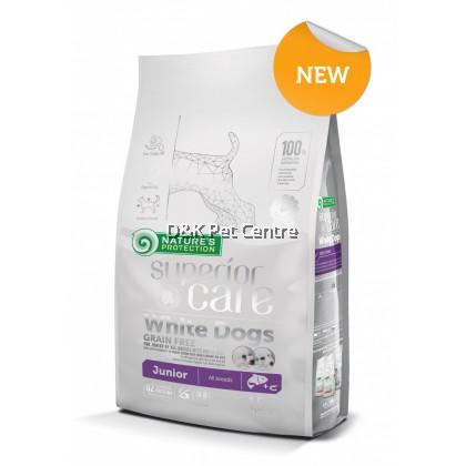 Nature's Protection Superior Care White Dog Food Grain Free Salmon Junior 1.5kg